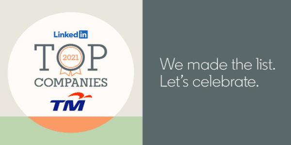 LinkedIn 2021 Top Companies